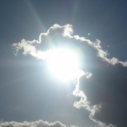 sun behind clouds blog